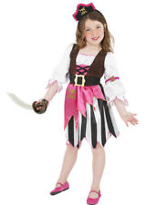 Kids Pink Pirate Girl Fancy Dress Costume
