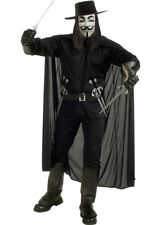 Adult Size V For Vendetta Fancy Dress Costume