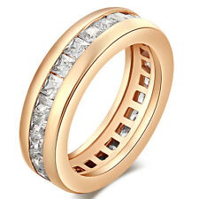 Fashion Gold Filled Fashion Womens Wedding Crystal Rings Size 5 7 8 9 Wholesale