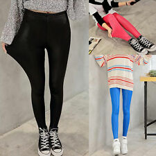 Winter Lady High Waisted Fuax Leather trousers leggings Women Stretch pants Gift