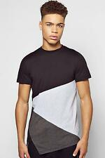 Boohoo Mens Extended Front Panel T Shirt