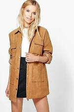 Boohoo Womens Jessica Suedette Utility Jacket