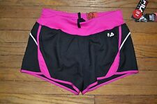 Fila Sport RUNNING Shorts Performance Wicking Built in Liner Storm Black Pink