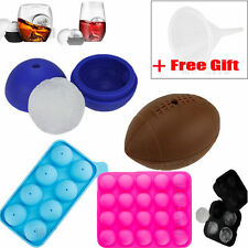 New Silicon Whiskey Ice Cube Ball Maker Mold Sphere Mould Brick Party Tray Round