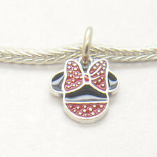 New Authentic Genuine S925 Silver Minnie Icon Enamel Dangle CHARM Bead