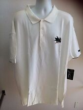 MEN'S NHL OFFICIALLY LICENSED SAN JOSE SHARKS POLO-MAJESTIC - WHITE - PLUS SIZES