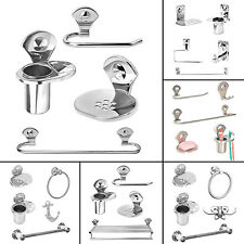 Doyours 4Pcs Stainless Steel Soap Dish Toothpaste Holder Towel Ring Bathroom Set