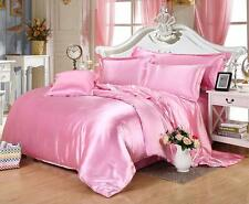1200 1000 TC All US Size 4pc Sheet Set/3pc Duvet Set in Pink Super Silk Bedding