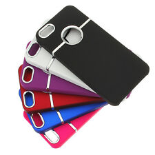 For iPhone 5 5s SE Deluxe Luxury Chrome Rubberized Snap-On Hard Back Case Cover