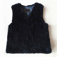 Casual Men New Real Rabbit Fur Vest Gilet Jacket Coat Fashion Handsome Garment