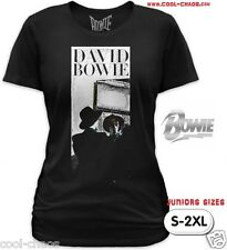 Official David Bowie T-shirt Junior's Rock Tee S-2X Bowie Mirror-Retro Reissue!