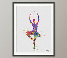 Ballerina Watercolor Print Archival Fine Art Print Children's Wall Art Decor