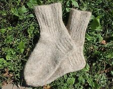 Men SOCKS Hand Knitted 100% pure natural SHEEP WOOL BIG SIZE