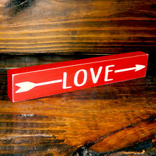 LOVE Wooden Valentine Sign - Shelf Sitter - 12 Different Color Combinations!