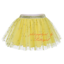 Toddler Flower Girls Green Embroidery Daisy Skirts Princess Summer Party Pageant