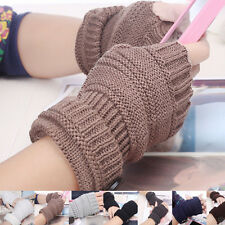 Wrist Arm Hand Warmer Mittens Knitted Fingerless Winter Gloves Men Women Fashion