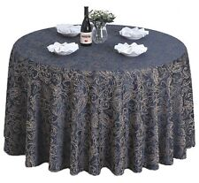 """60""""-120'' Round Polyester Floral Banquet Tablecloth Table Cover Wedding Party"""