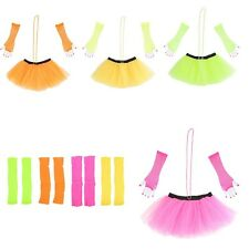 NEON TUTU SKIRT SET HEN NIGHT PARTY 80'S FANCY DRESS COSUME NET BALLET SKIRT