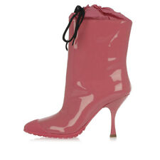 MIU MIU women Pink 9,5 cm heeled patent leather ankle boots made in Italy