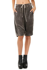 RICK OWENS New Women Dark Dust PODS Bermuda Coulisse Pants Shorts Made Italy