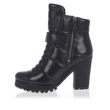 PRADA New woman black Padded Leather Ankle boot Shoes NWT