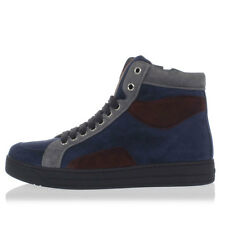 PRADA New Woman blue Suede Leather High top sneakers Shoes NWT
