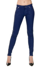 MICHAEL BY MICHAEL KORS Woman Coated Mixed Denim Jeans Blue