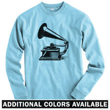 Gramophone Long Sleeve T-shirt - LS Men S-4X  Gift Music Record Player Turntable