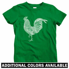Rooster Kids T-shirt - Baby Toddler Youth Tee - Gift Cock a Doodle Farm Sriracha