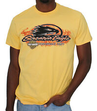 Harley-Davidson Mens Screamin Eagle Flames Yellow Short Sleeve T-Shirt