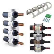 Excellent Houseware Metal Wall Mounted 3/4 Bottle Wine Holder  Storage Rack