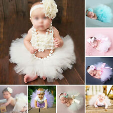 Cute Baby Newborn Toddler Girls Hairband Tutu Skirt Photo Prop Costume Outfit