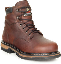 Rocky Mens Brown Leather Ironclad Waterproof 6in Work Boots
