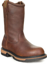 Rocky Ironclad Mens Brown Leather Steel Toe Wellington Work Boots