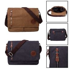 Mens Shoulder Bag Briefcase Messenger Laptop Bag Satchel Canvas Business Vintage