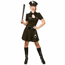 Womens Naughty Sexy Police Officer Cop Fancy Dress Up Party Halloween Costume