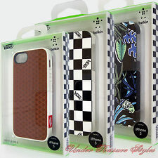 VANS iPhone 5 belkin Case Case -Waffle Sole -Checker Black Jungle