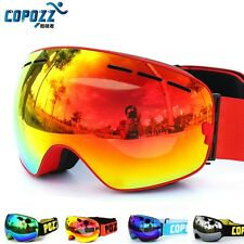 New COPOZZ brand ski goggles double layers UV400 anti-fog big ski mask glasses