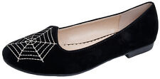 Womens Faux Suede Leather Loafers Ballet Pumps Ballerinas Slippers Shoes Size