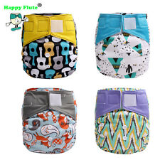 Happy Flute Night AIO Cloth Diaper os heavy wetter Baby Nappy fit3-15kg baby