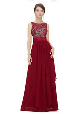 Fashion Women Bridesmaid Evening Gown Formal Party Prom Dress Lace Maxi Dresses