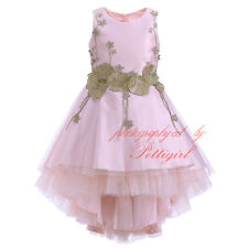 Flower Girl Dress Princess Kids Sleeveless Wedding Bridesmaid Formal Communion