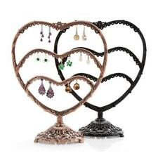 Vintage Heart Stand Jewelry Earrings Show Rack Holder Organizer Display Storage