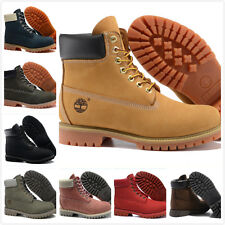 Timberland 10061 Wheat Red Mens Womens Classic 6 Inch Waterproof Boots RRP £160