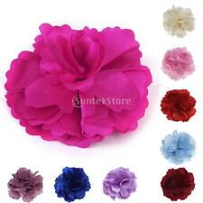 Multicolor Satin Peony Flower Bud Hair Clip for Girl Crochet Headband