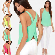 Fashion Womens Lady Summer Sleeveless Blouse Casual Tank Tops T-Shirt Vest Top