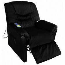 Electric Massage Chair Leather Home Office Recliner Sofa Heated Gaming Armchair