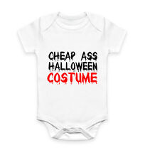Cheap Ass Halloween Costume Funny Outfit Humour Vest Baby Grow Bodysuit Infant