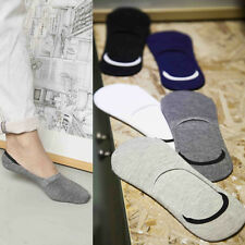 1Pair Men Casual Low Cut Loafer Boat Socks Non-Slip Invisible No Show Shoe Liner