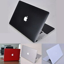 Carbon Fiber Surface Skin Decal Cover Screen Protector for Apple MacBook Air Pro